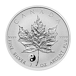Canadian Silver Maple 2016 - Yin and Yang Privy - Reverse Proof - Circulated in good condition - 1 oz