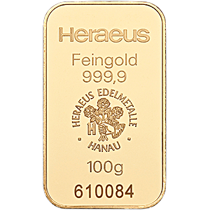 Heraeus Gold Bar - 100 g