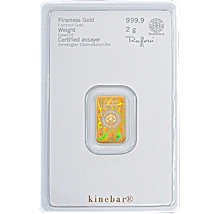 Heraeus Kinebar Gold Bar - 2 g