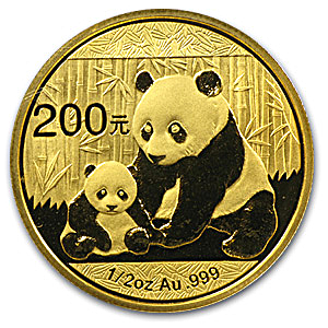 Chinese Gold Panda 2012 - 1/2 oz