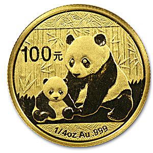 Chinese Gold Panda 2012 - 1/4 oz