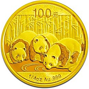 Chinese Gold Panda 2013 - 1/4 oz