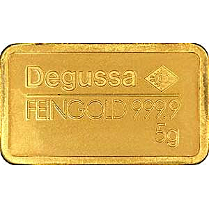 Degussa Gold Bar - Circulated in good condition - 5 g