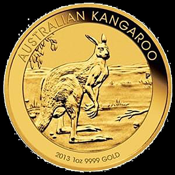 Australian Gold Kangaroo Nugget 2013 - 1 oz