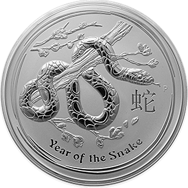 Australian Silver Lunar Series 2013 - Year of the Snake - 1 kg