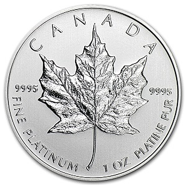 Canadian Platinum Maple Leaf - Various Years - 1 oz