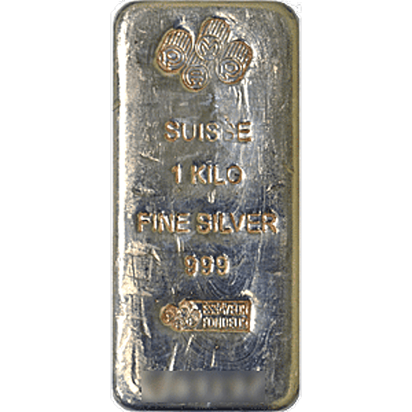 PAMP Silver Bar - Circulated in good condition - 1 kg