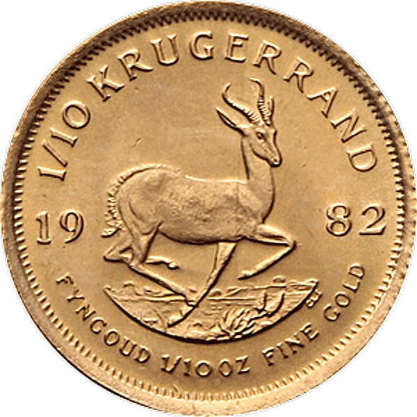 South African Krugerrand - Various years - 1/10 oz