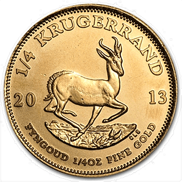 South African Krugerrand - Various years - 1/4 oz