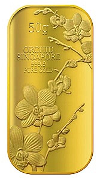Singapore Gold Bar - Orchid Singapore - 50 g