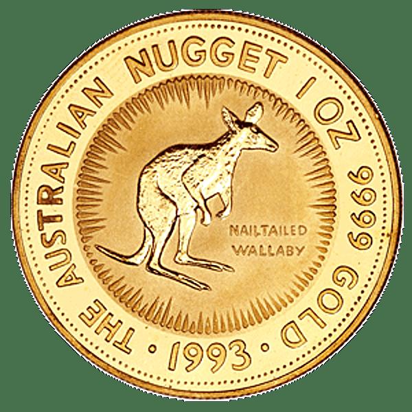 Australian Gold Kangaroo Nugget 1993 - 1 oz