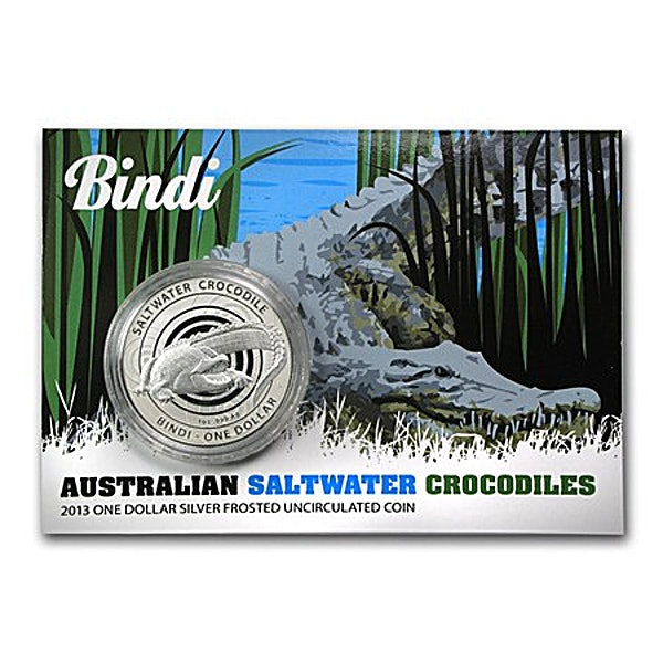 Royal Australian Mint Silver Saltwater Crocodile Series 2013 - Bindi - Circulated in good condition - 1 oz