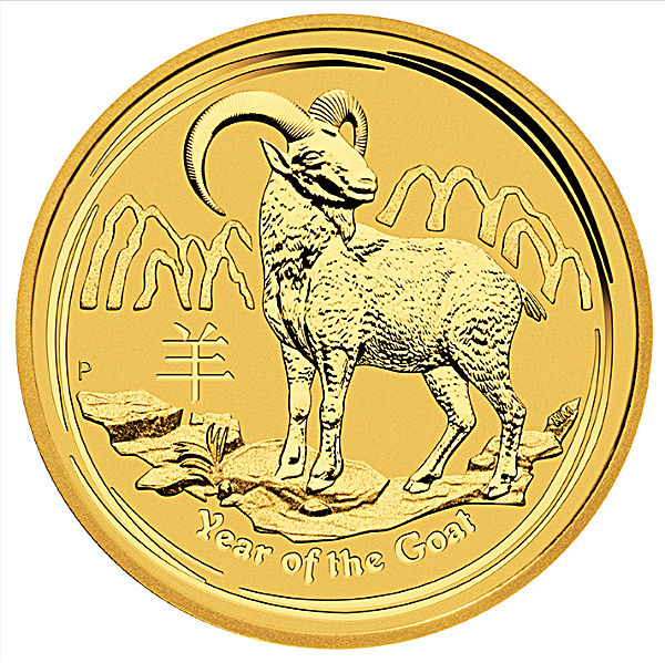 Australian Gold Lunar Series 2015 - Year of the Goat - 1/10 oz