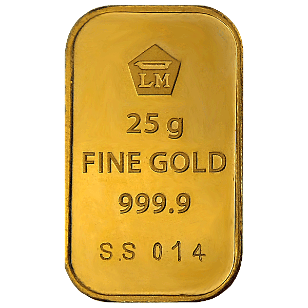 Logam Mulia Gold Bar - 25 g