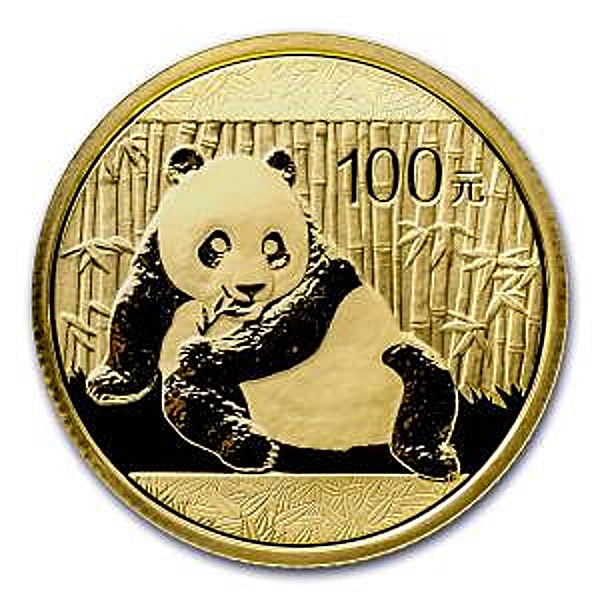 Chinese Gold Panda 2015 - 1/4 oz