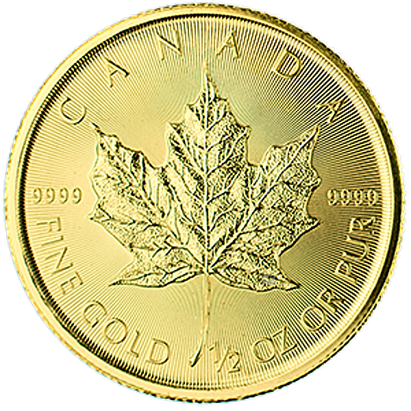 Canadian Gold Maple 2015 - 1/2 oz