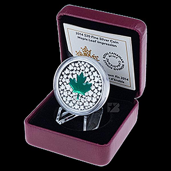 Canadian Silver $20 Maple Leaf Impression - With box & COA - 2014 - 1 oz