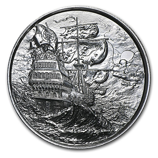 The Privateer Silver Round - Circulated in good condition - 2 oz