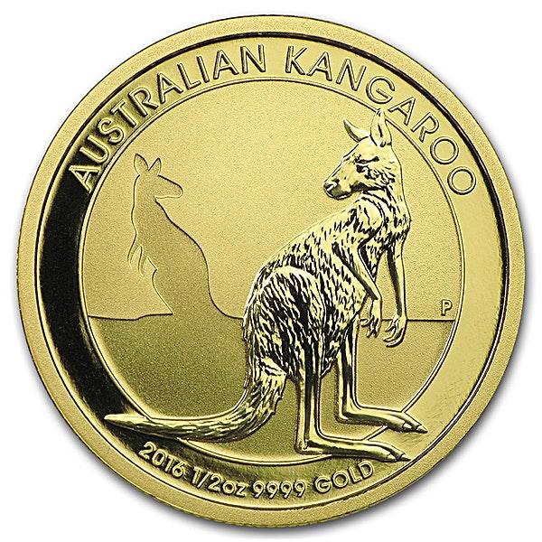 Australian Gold Kangaroo Nugget 2016 - 1/2 oz