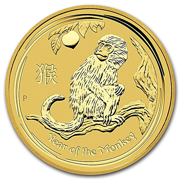 Australian Gold Lunar Series 2016 - Year of the Monkey - 2 oz