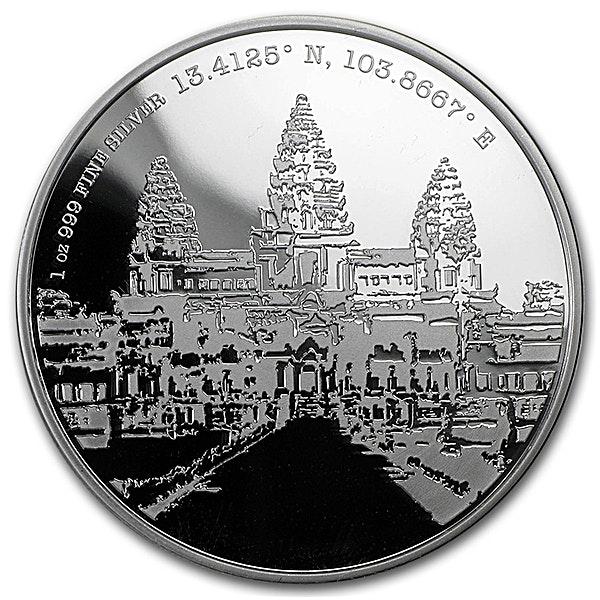 Niue 2015 Silver Forgotten Cities Angkor Wat - 1 oz