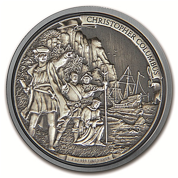 Journeys of Discovery - Christopher Columbus - Circulated in good condition - 2 oz