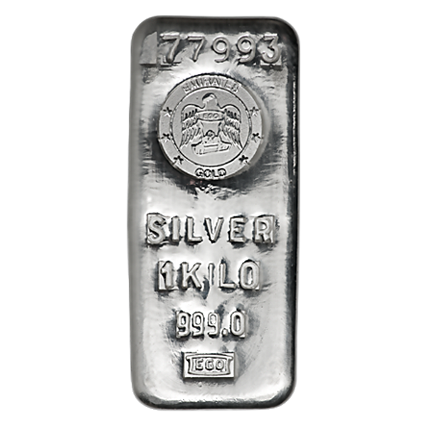 Emirates Silver Bar - Circulated in good condition - 1 kg