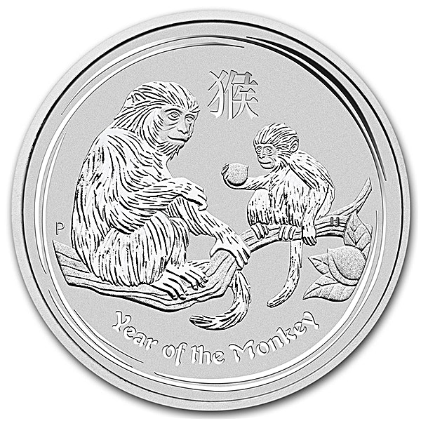 Australian Silver Lunar Series 2016 - Year of the Monkey - 1 kg