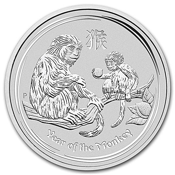 Australian Silver Lunar Series 2016 - Year of the Monkey - 2 oz