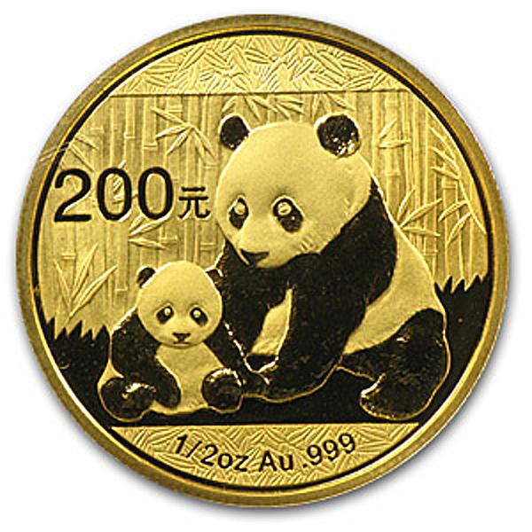 Chinese Gold Panda 2012 - 1/2 oz
