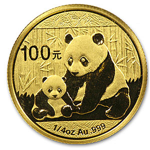 Chinese Gold Panda 2012 - 1/4 oz