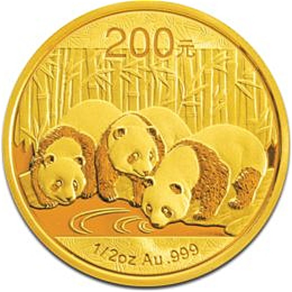 Chinese Gold Panda 2013 - 1/2 oz