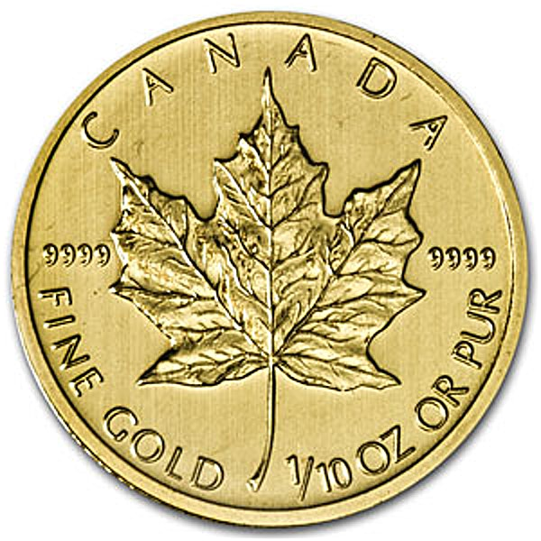 Canadian Gold Maple 1990 - 1/10 oz
