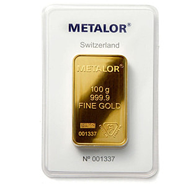 Metalor Gold Bar - 100 g