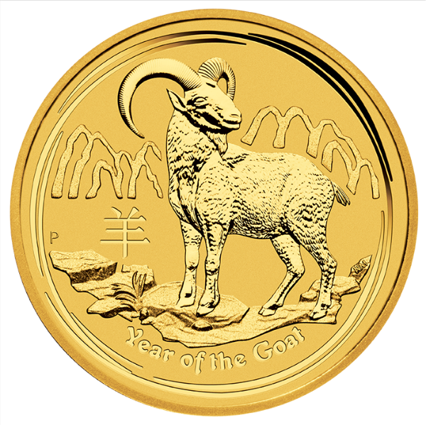 Australian Gold Lunar Series 2015 - Year of the Goat - 1/20 oz thumbnail