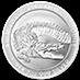 Australian Silver Saltwater Crocodile 2014 - 1 oz thumbnail