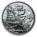 The Privateer Silver Round - Circulated in good condition - 2 oz thumbnail