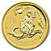 Australian Gold Lunar Series 2016 - Year of the Monkey - 1/2 oz thumbnail