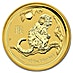Australian Gold Lunar Series 2016 - Year of the Monkey - 1/20 oz thumbnail
