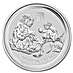 Australian Silver Lunar Series 2016 - Year of the Monkey - 2 oz thumbnail