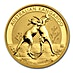 Australian Gold Kangaroo Nugget 2010 - 1/2 oz thumbnail