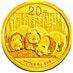 Chinese Gold Panda 2013 - 1/20 oz thumbnail