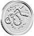 Australian Silver Lunar Series 2013 - Year of the Snake - 2 oz thumbnail