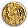 Swiss 20 Francs Vrenelli - 5.81 g gold