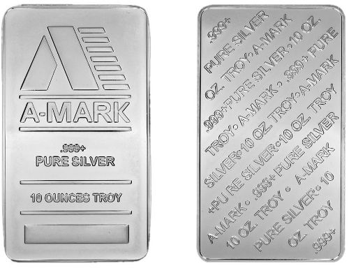 A-Mark Silver Bar - 10 oz