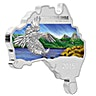 Australian Silver Wedge Tailed Eagle 2015 - Map Shaped - 1 oz