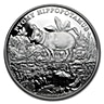 Niue Silver Endangered Species Pygmy Hippopotamus 2015 - 1 oz