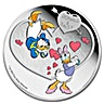 Niue Silver Crazy in Love 2016 - Donald and Daisy - 1 oz