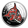 Canada $50 Silver Mythical Realms of the Haida Series: Orca 2016 - Proof (With box & COA) - 5 oz