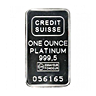 Credit Suisse Platinum Bar (Circulated in good condition)